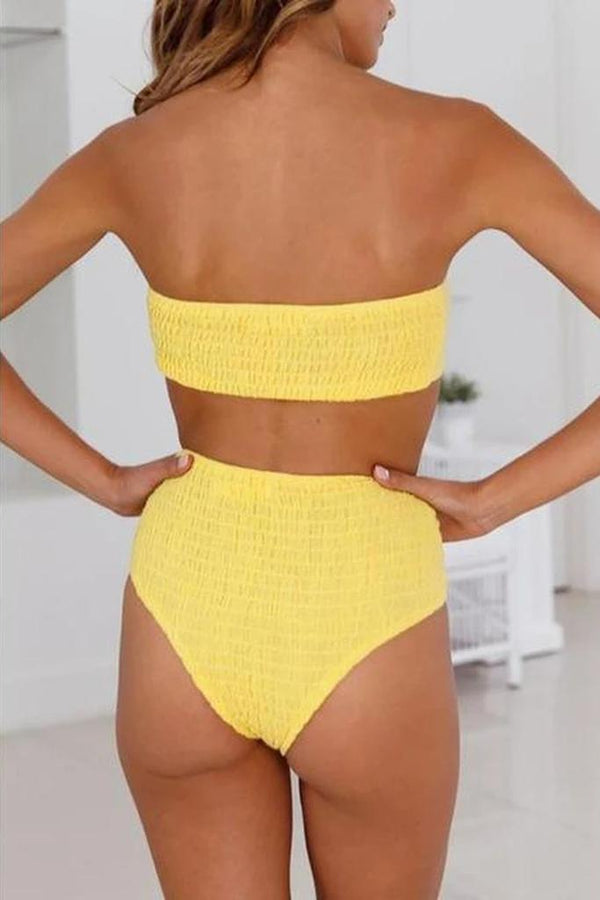 Solid Bowknot Bikini Set - SWIMWEAR - NIGEL MARK