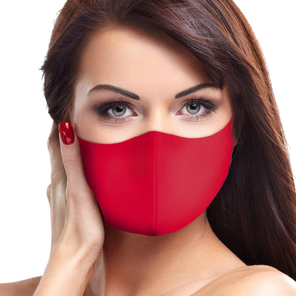 Solid Deep Red Face Mask - BEAUTY & WELLNESS - NIGEL MARK