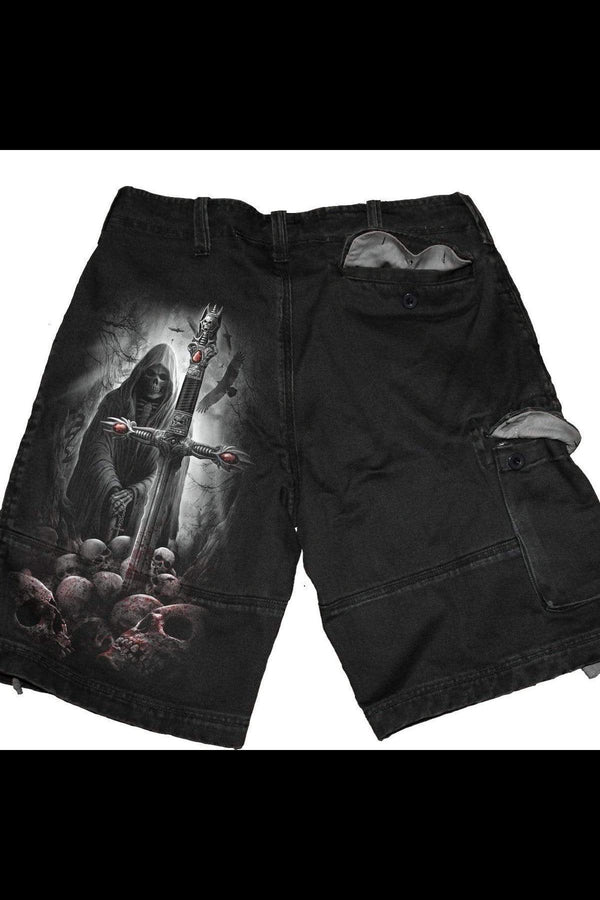 SOUL SEARCHER - Vintage Cargo Shorts Black - MEN SHORTS - NIGEL MARK