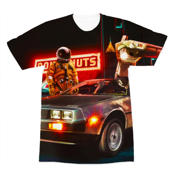 Spaceman DeLorean T-Shirt - T-shirts - NIGEL MARK
