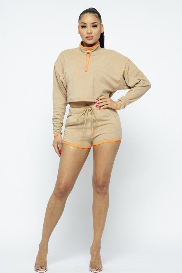 Sporty Shorts Set - WOMEN MATCHING SETS - NIGEL MARK