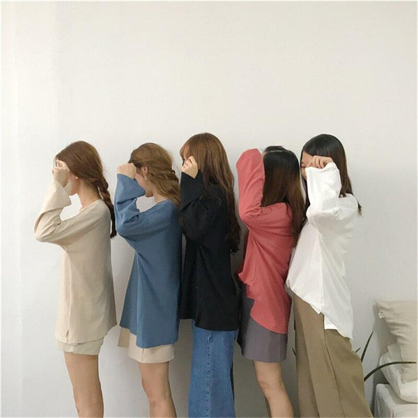 Spring Korean Ladies Casual Oversized T shirt - WOMEN TOPS - NIGEL MARK