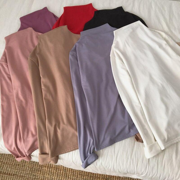 Spring Korean Ladies Casual Slim T shirt - WOMEN TOPS - NIGEL MARK