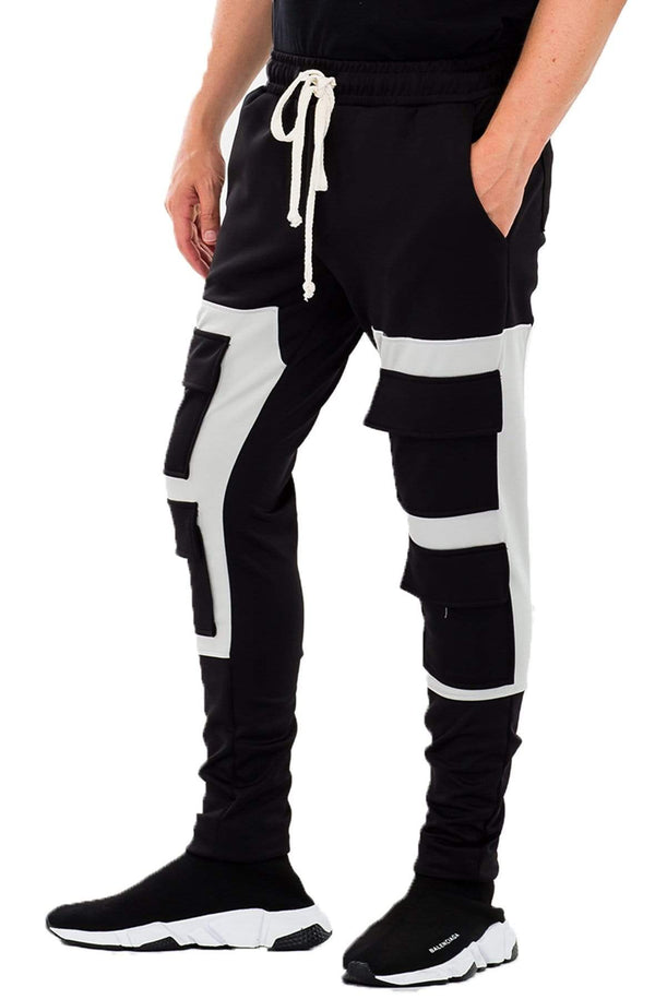 Square Block Track Pant - MEN ACTIVEWEAR - NIGEL MARK
