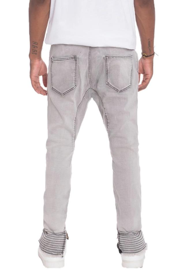 Stretch Denim - Grey - MEN BOTTOMS - NIGEL MARK