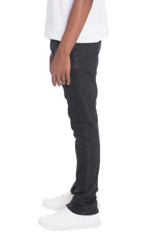 Stretch Denim Pants - Black - MEN BOTTOMS - NIGEL MARK