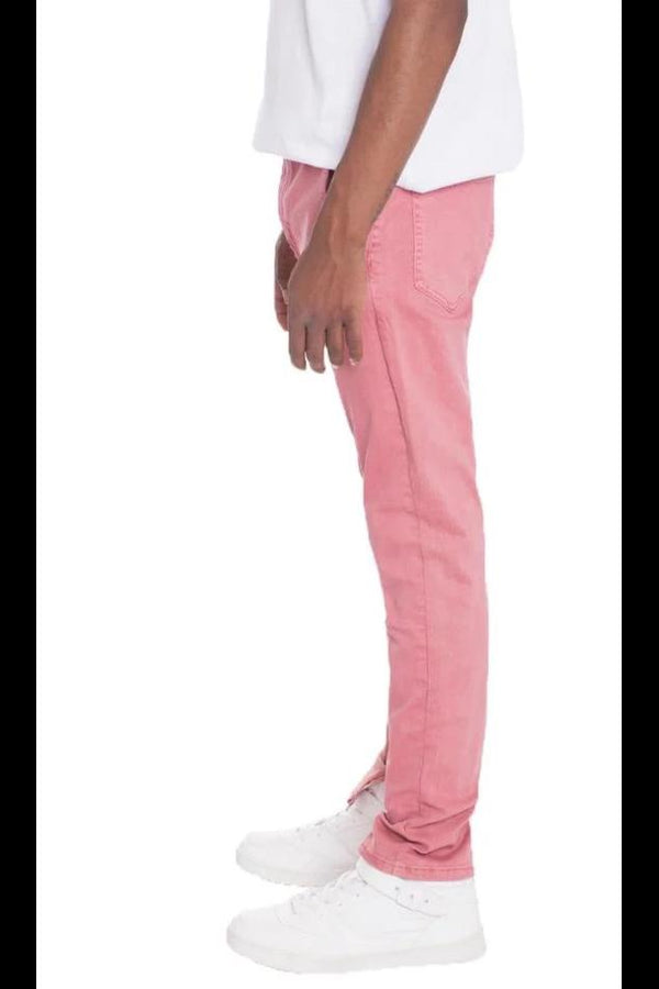 Stretch Denim - Pink - MEN BOTTOMS - NIGEL MARK