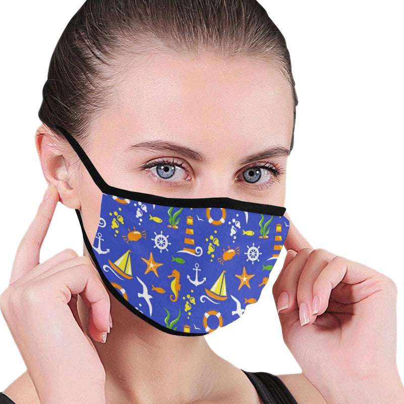 Summer Sea Pattern Hand-Made Fabric Face Mask - BEAUTY & WELLNESS - NIGEL MARK