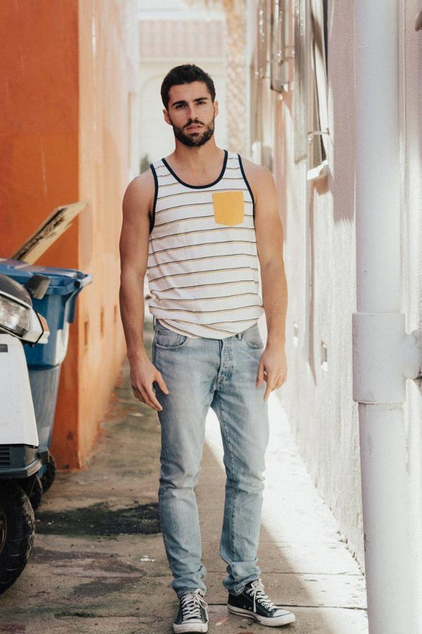 Summer Striped Tank - Men's Clothing - NIGEL MARK