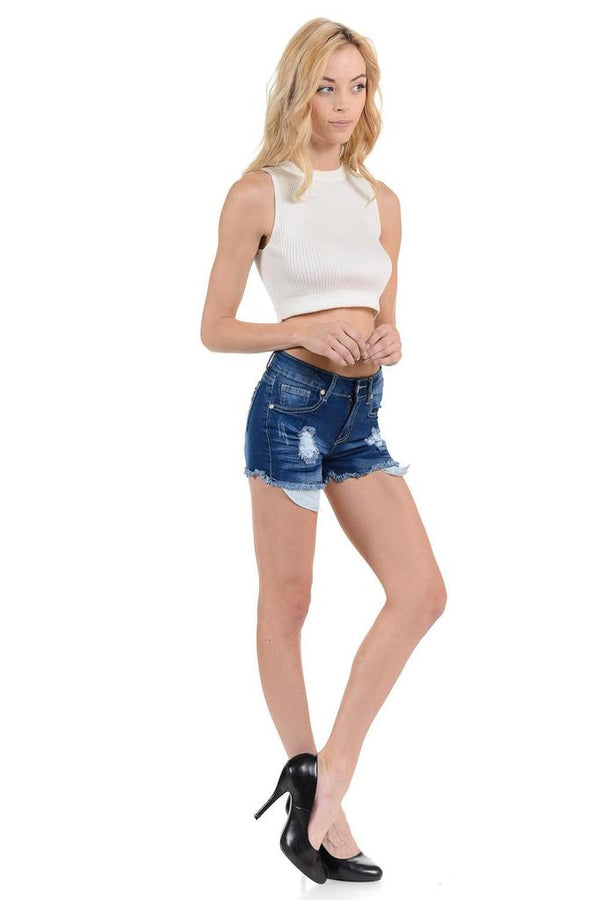 Sweet Mid Waist Shorts - WOMEN BOTTOMS - NIGEL MARK
