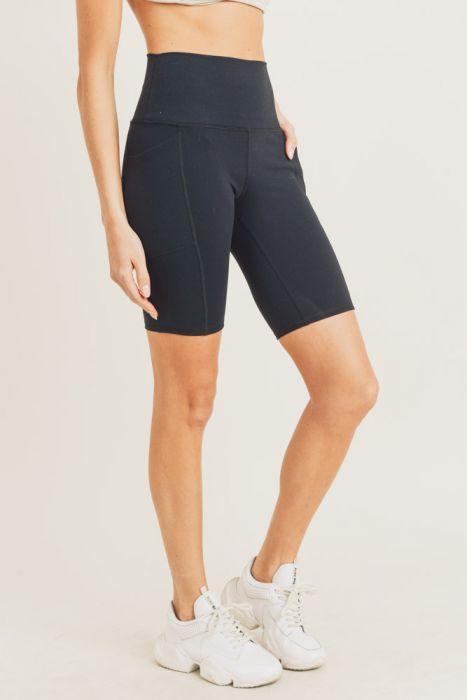 Tapered Band Essential Bermuda Leggings - Activewear - NIGEL MARK