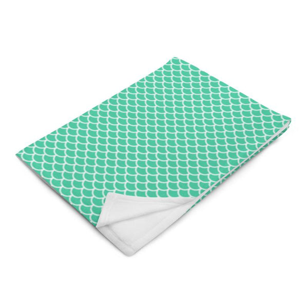 Teal Mermaid Throw Blanket - LIVINGROOM - NIGEL MARK