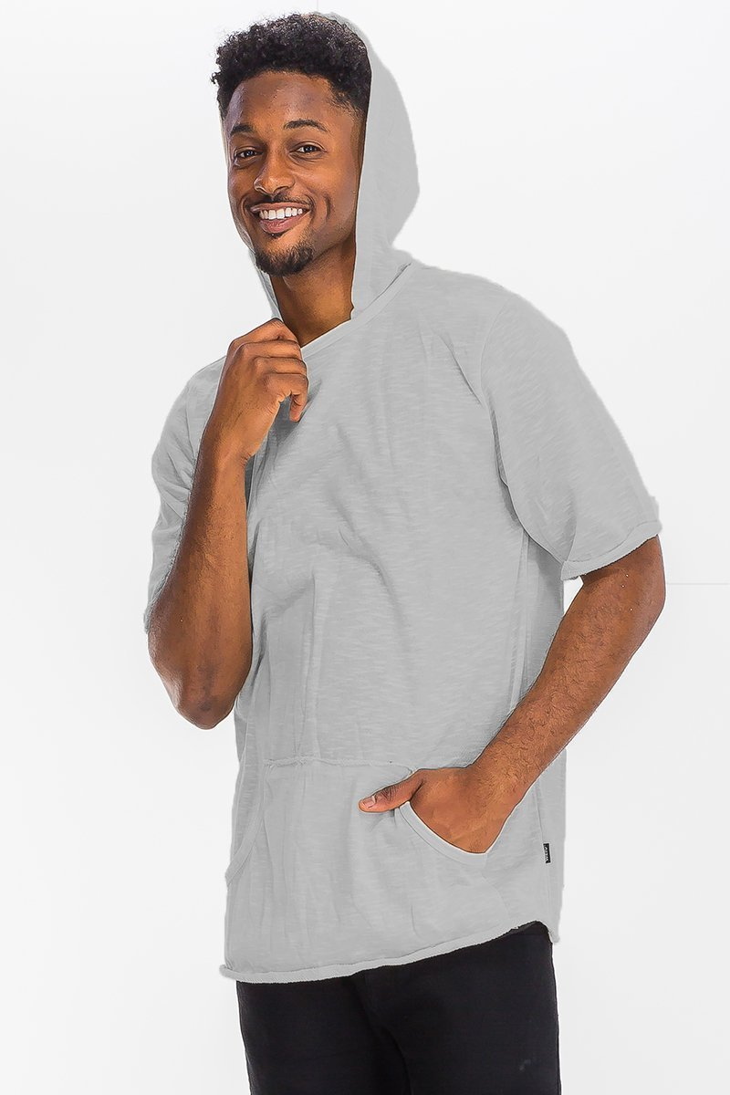 Terry Short Sleeve Hooded Shirt - MEN TOPS - NIGEL MARK