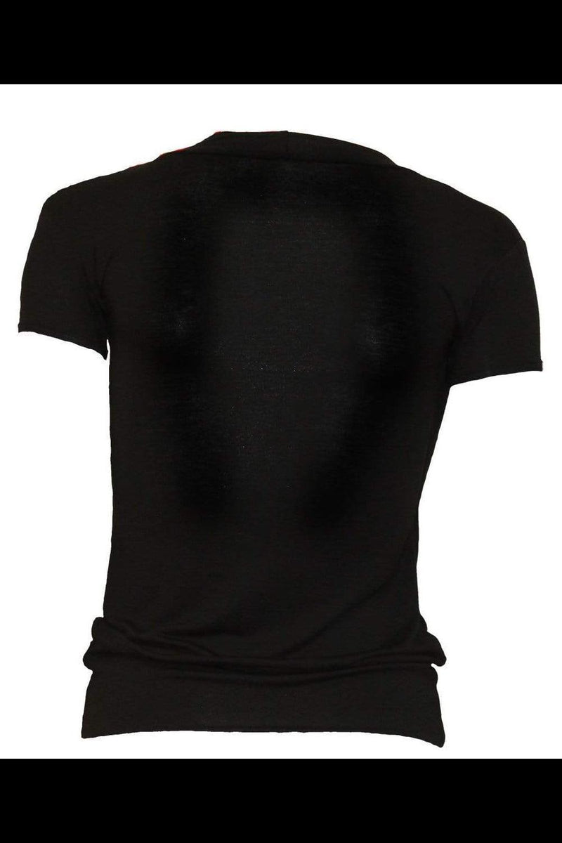 THE WATCHERS - Allover 2 in 1 Gathered Knot Short Sleeve - WOMEN TOPS - NIGEL MARK