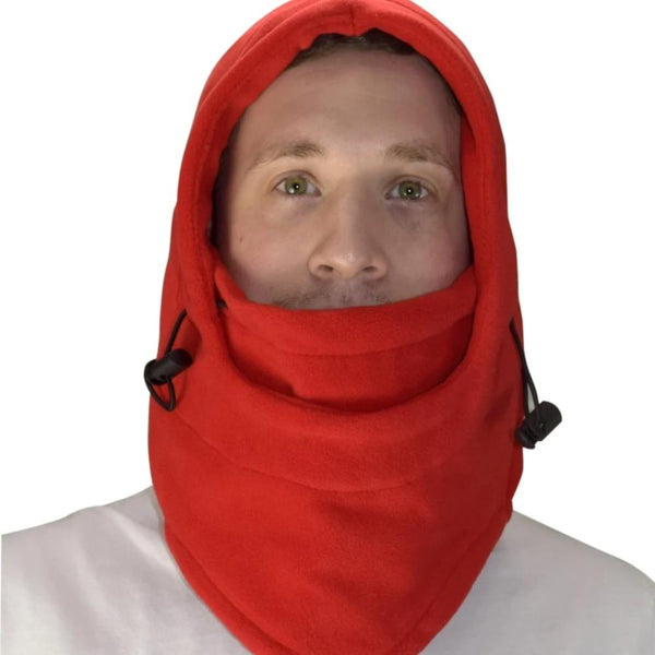 Thick Knit One Hole Facemask Balaclava Snowboarding Biker Mask (Red) - BEAUTY & WELLNESS - NIGEL MARK