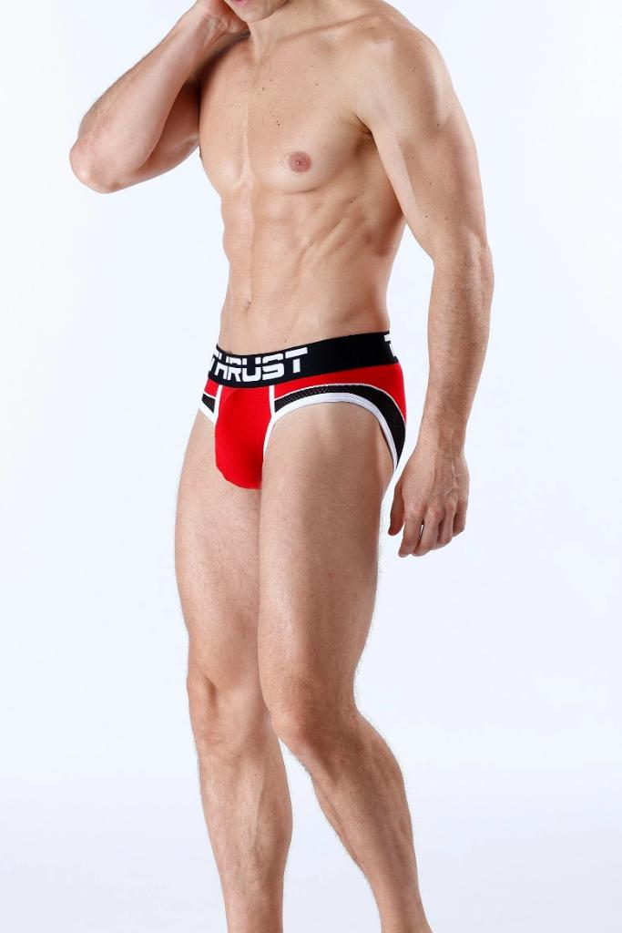 Thrust Brief Red - MEN UNDERWEAR - NIGEL MARK