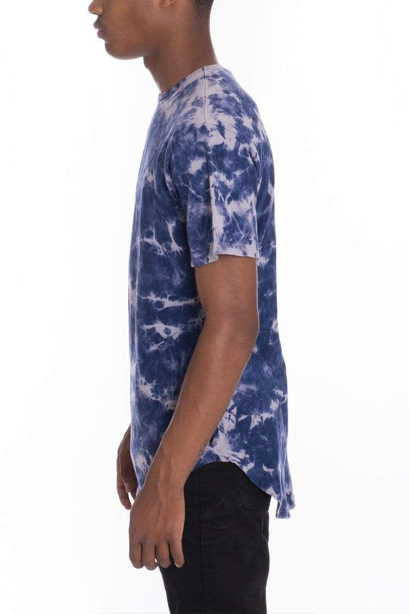Tie Dye Scallop Tee - Purple - MEN TOPS - NIGEL MARK
