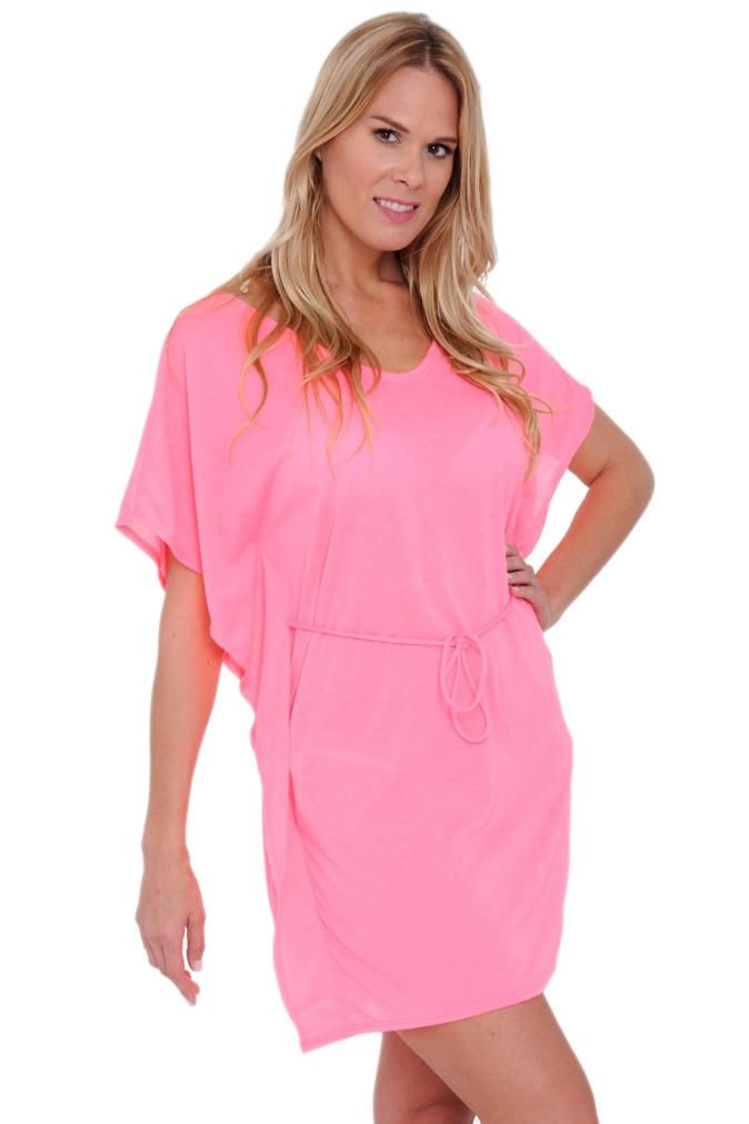 Tie Waist Tunic Cover-Up - SWIMWEAR - NIGEL MARK
