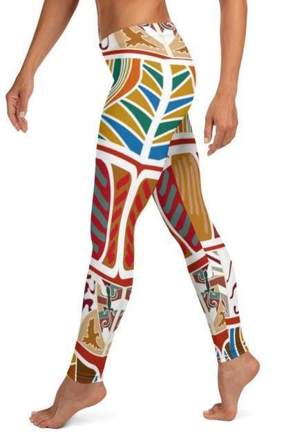 Tribal Printed Leggings - BOTTOMS - NIGEL MARK