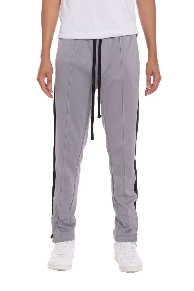 Tricot Striped Track Pants - Grey - MEN BOTTOMS - NIGEL MARK