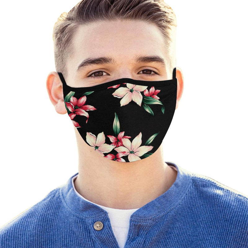 Tropical Floral Pattern Hand-Made Fabric Face Mask - BEAUTY & WELLNESS - NIGEL MARK