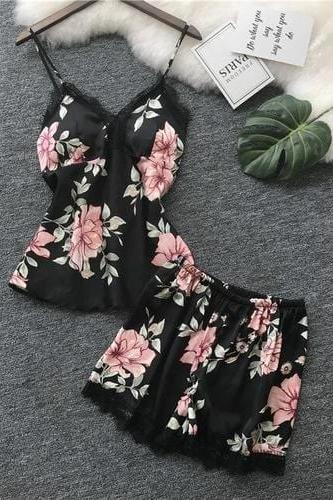 Tropical Flowers Pajama Set - MATCHING SETS - NIGEL MARK