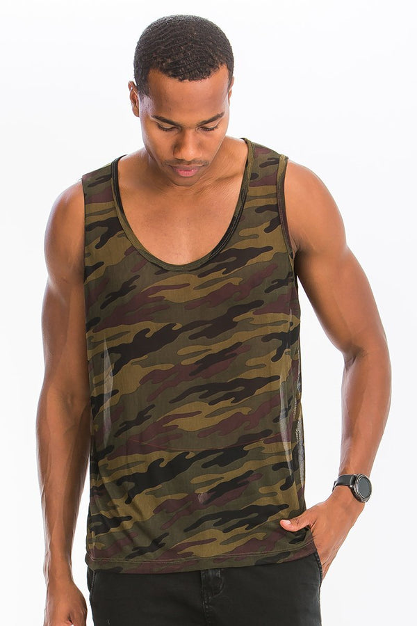 True Camo Tank - MEN TOPS - NIGEL MARK