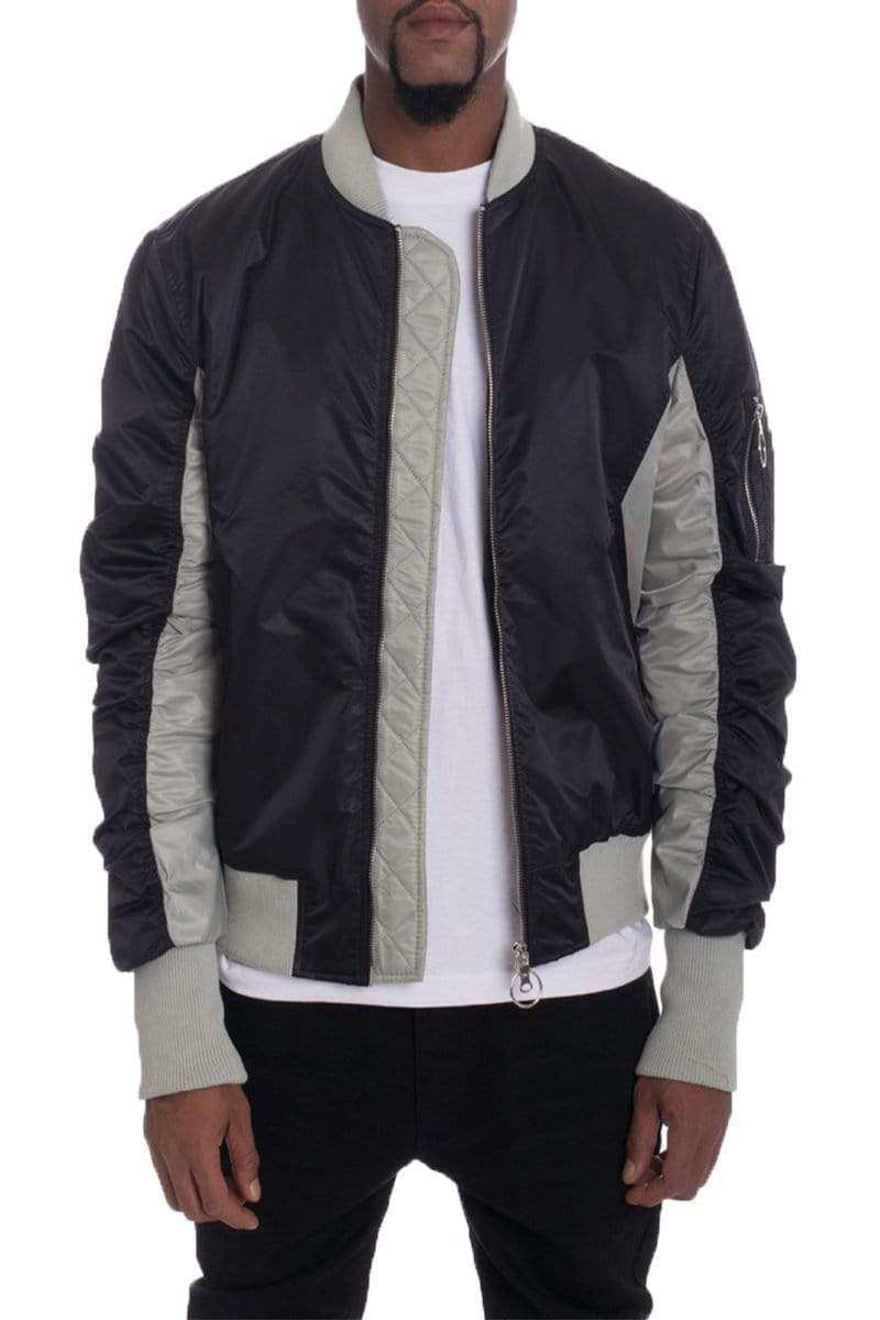 TWO TONE BOMBER- BLACK - MEN JACKETS & COATS - NIGEL MARK