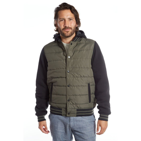 Two Tone Quilted Puffer Jacket - Men's Clothing - NIGEL MARK