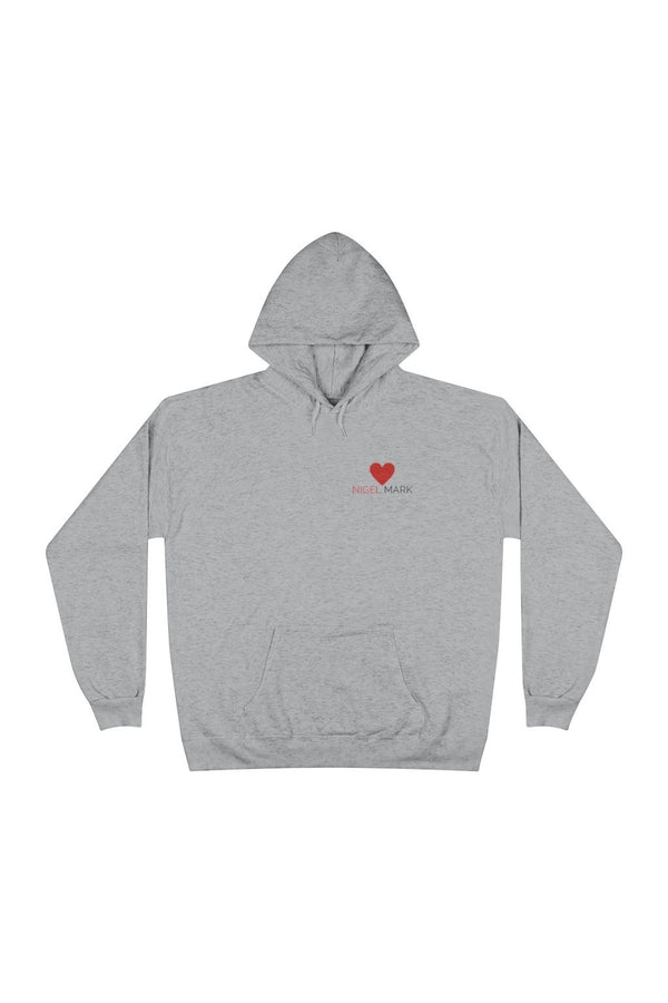 red heart logo branded hoodie sweatshirt