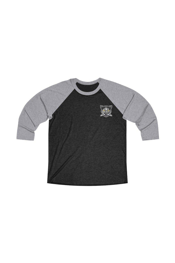 Unisex Grey Panther Baseball Tee - NM BRANDED - NIGEL MARK