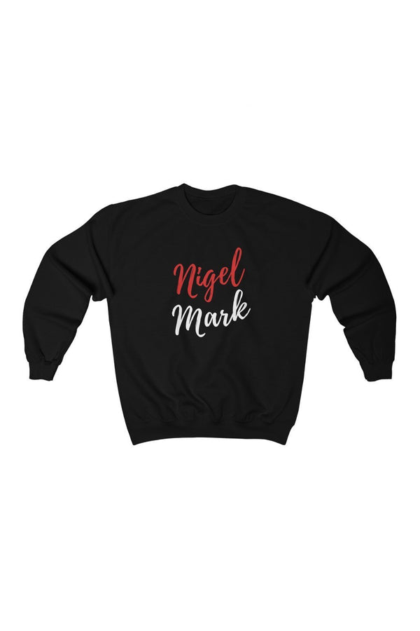 black and red logo branded sweatshirt