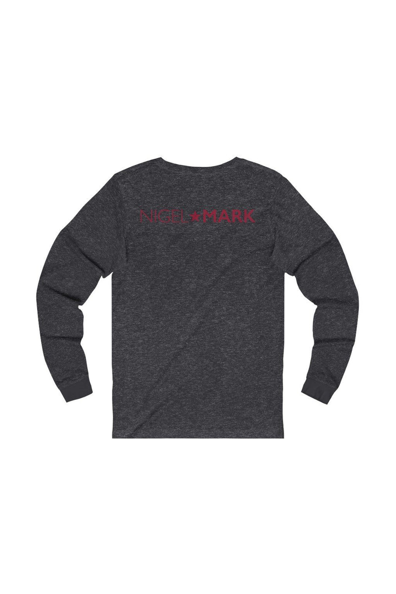 red and dark grey long sleeve tee