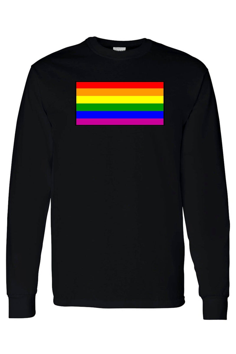 Unisex Long Sleeve Shirt Gay Pride Rainbow Flag - MEN TOPS - NIGEL MARK