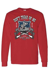 Unisex Long Sleeve Shirt USA Flag Don't Tread on - MEN TOPS - NIGEL MARK