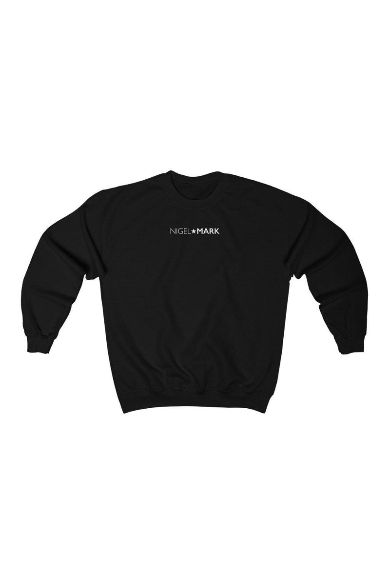 black and white crewneck sweatshirt