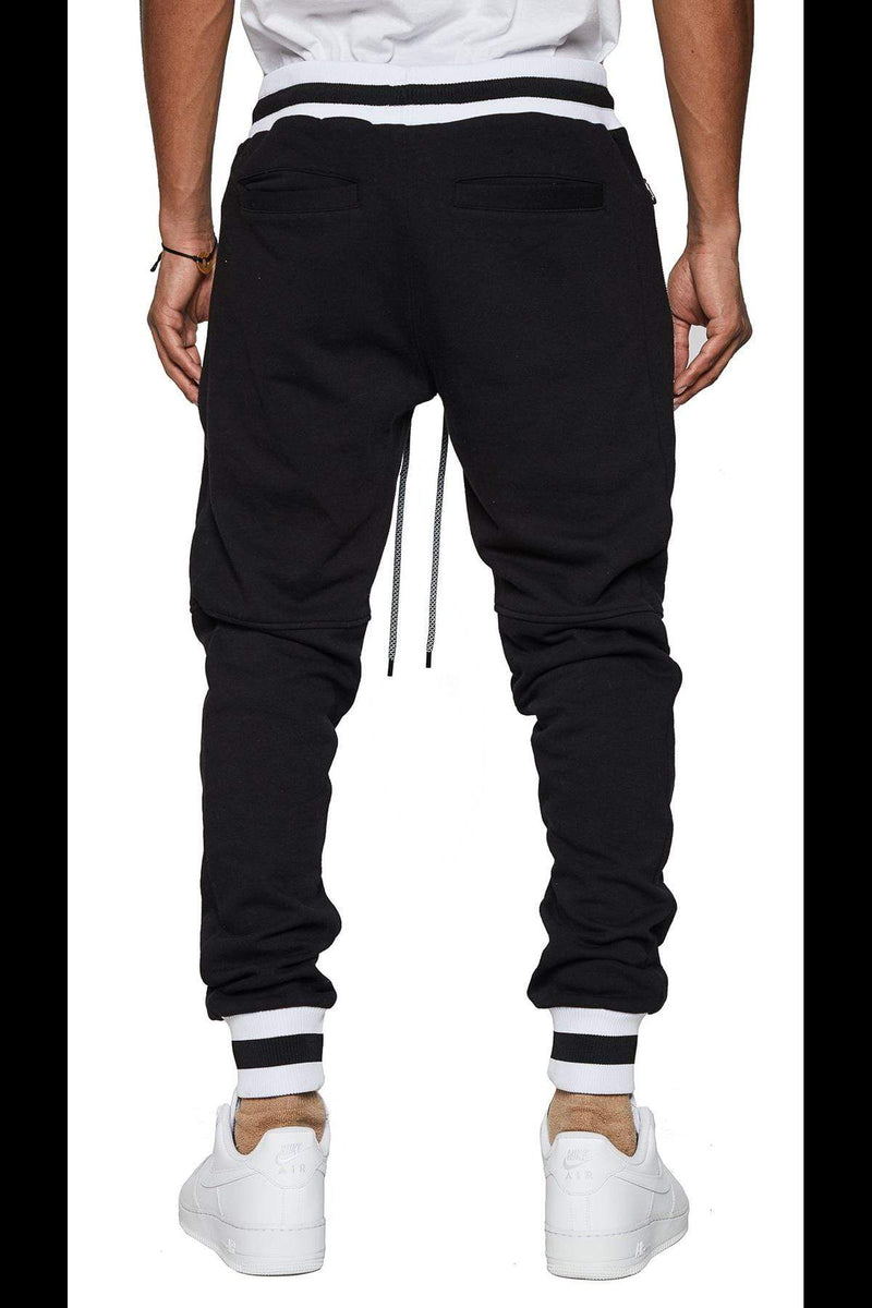 Varsity Fleece Tonal Track Pants - MEN BOTTOMS - NIGEL MARK