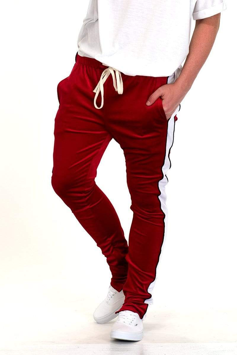 Velvet Pants - Red - MEN BOTTOMS - NIGEL MARK