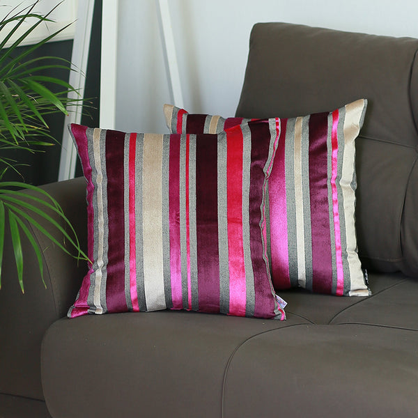 Velvet Purple Luxurious Throw Pillow - Home Decor - NIGEL MARK