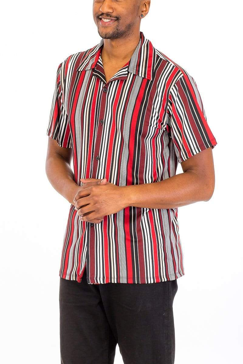 Vertical Shirt - Red - MEN SHIRTS - NIGEL MARK