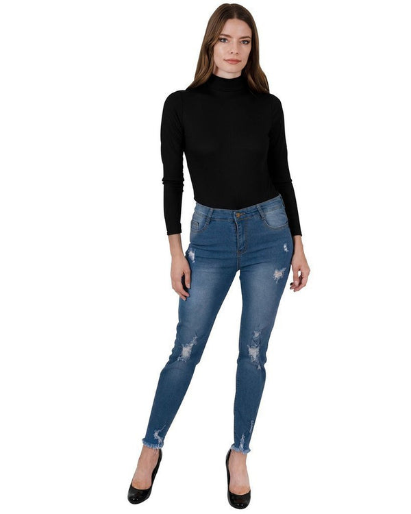 Via Rodeo High Waisted Jeans - WOMEN BOTTOMS - NIGEL MARK
