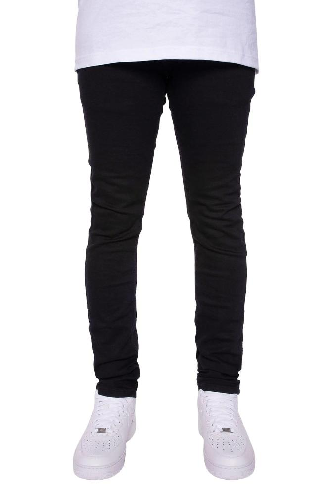 Victor Skinny Jeans in Black - MEN BOTTOMS - NIGEL MARK