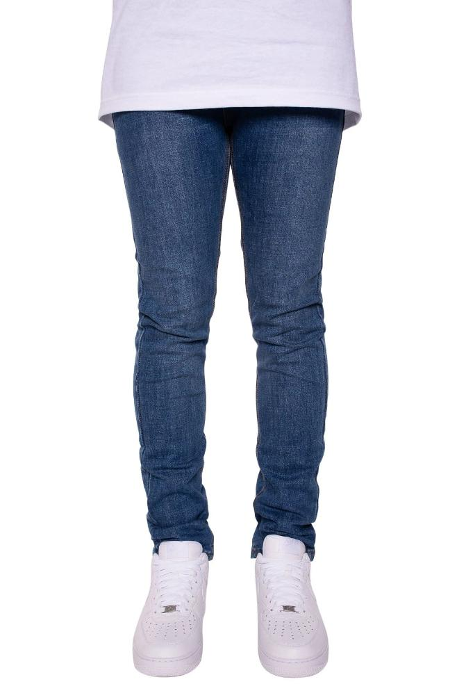 Victor Skinny Jeans in Classic Blue - MEN BOTTOMS - NIGEL MARK