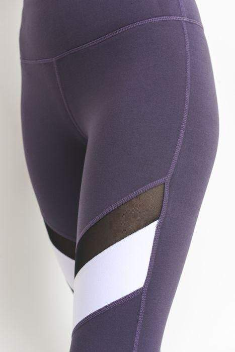 Violet Colorblock Mesh Full Leggings - BOTTOMS - NIGEL MARK