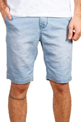 Washed French Terry Short - Blue - MEN SHORTS - NIGEL MARK