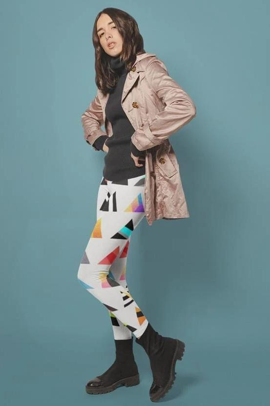 Watercolor Chevron Pattern Legging - BOTTOMS - NIGEL MARK
