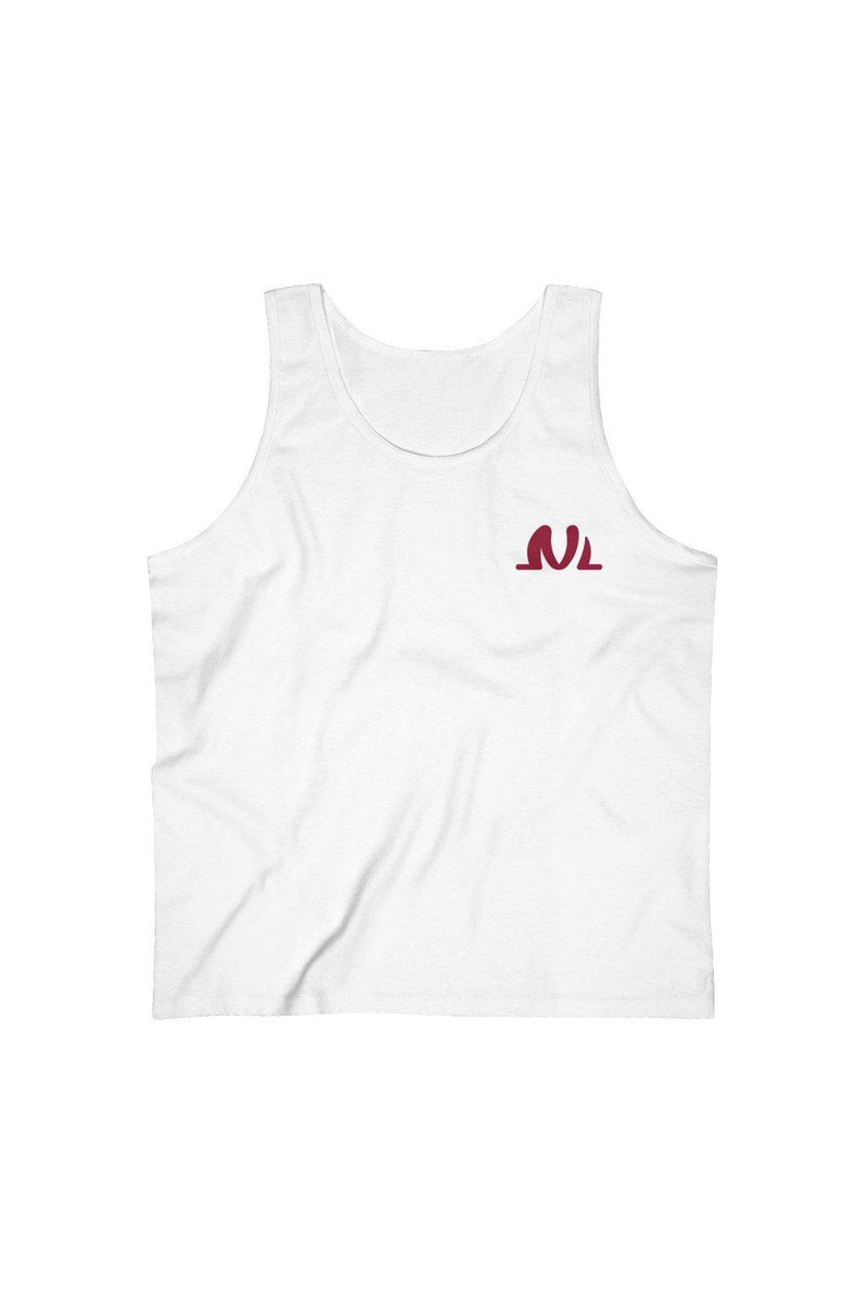 White And Burgundy Cotton Tank Top - NM BRANDED - NIGEL MARK