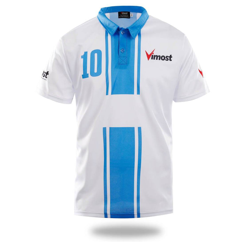 White Blue Design Soccer Jersey - MEN TOPS - NIGEL MARK