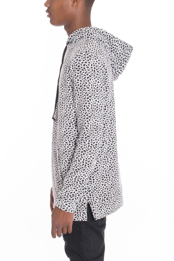 White Leopard Pullover - Sweaters & Hoodies - NIGEL MARK
