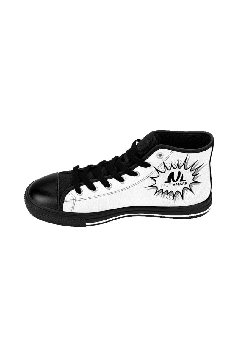 White NM Men's High-top Sneakers - NM BRANDED - NIGEL MARK